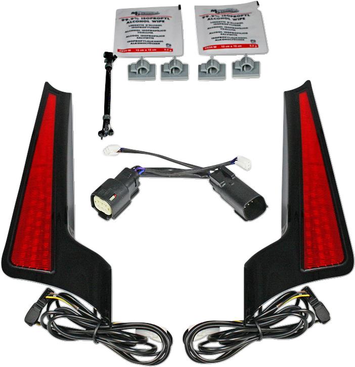 Custom Dynamics Red Lens LED Fascia Panel Lights 10-13 Harley Touring FLHX