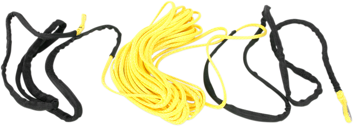 """Moose Utility Yellow 1/4"""" x 50' Synthetic Universal ATV Winch Rope Cable"""