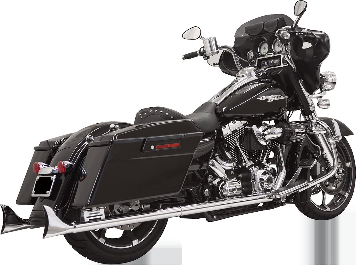"""Bassani Chrome 33"""" Fishtail Slip on Mufflers for 95-16 Harley Touring FLHX FLHR"""