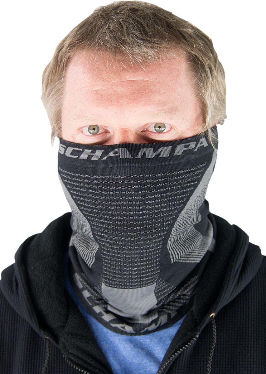 Schampa Dirt Skins Black Gray Pro Series Pullover Motorcycle Offroad Neck Gaiter