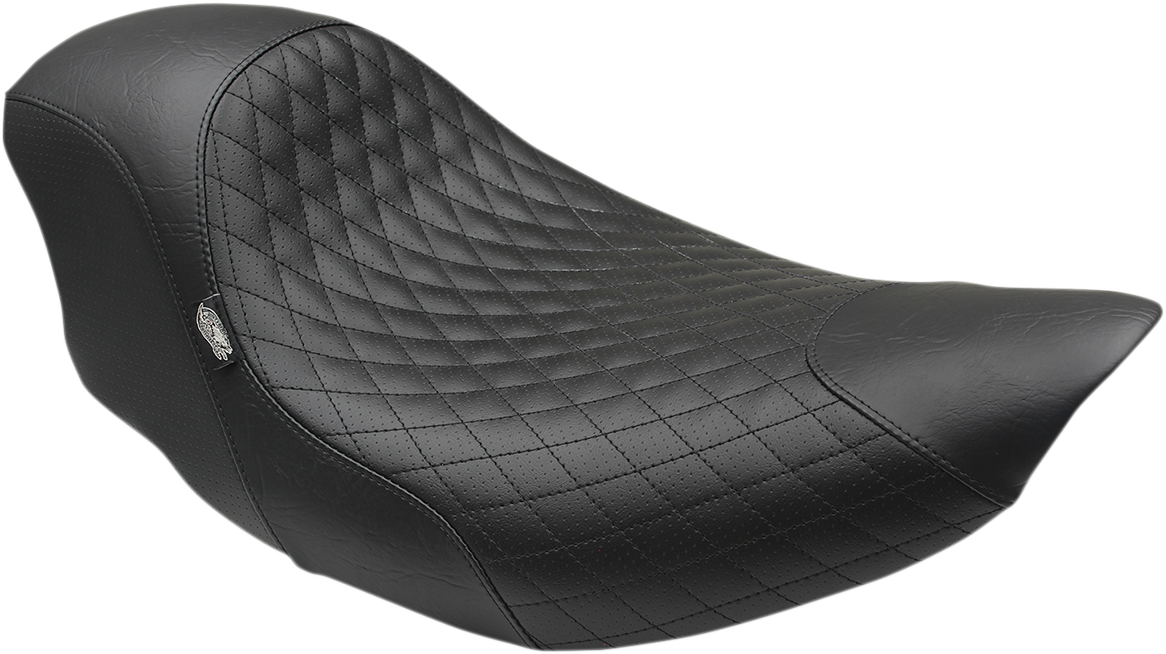 Mustang Black Shope Diamond Motorcycle Solo Seat 14-19 Indian Chief Scout