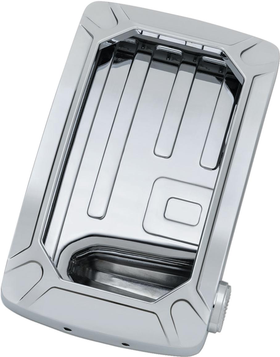 Kuryakyn 3191 Chrome Nova LED Vertical Side Mount Universal License Plate Holder