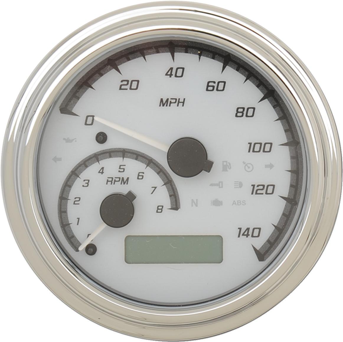 Dakota Digital Chrome White MVX Tank Mounted Speedometer 11-19 Harley Softail