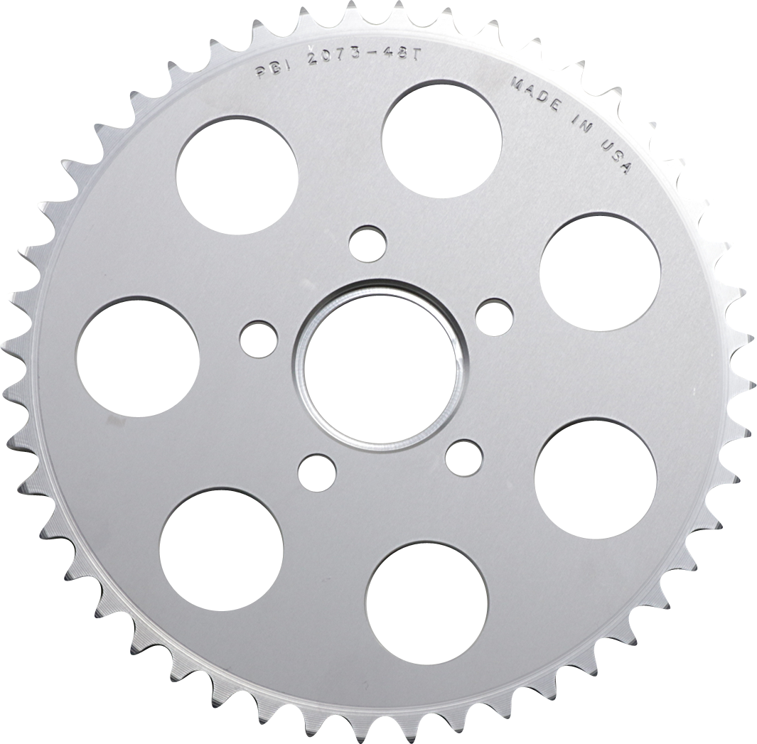 PBI Chrome Rear 48 Tooth Sprocket 86-13 Harley Dyna Touring Softail Sportster