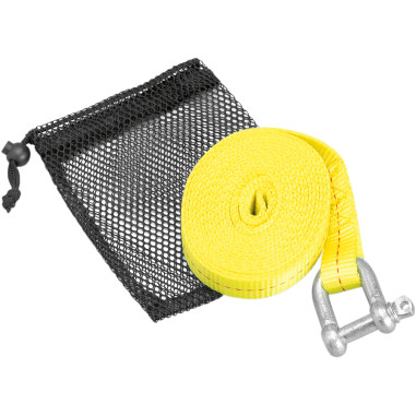 ATV TOW STRAP WITH SHACKLE