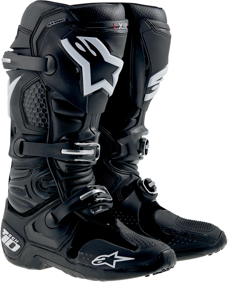 Alpinestars Mens Tech 10 Black Offroad Riding Size 12 Dirt Bike Racing Boots