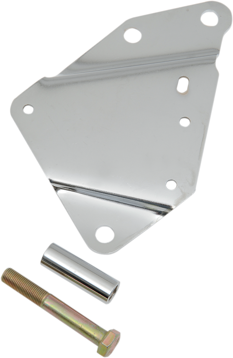 Paughco Chrome Right Side Teardrop Tool Box Mounting Bracket For 84-99 Harley