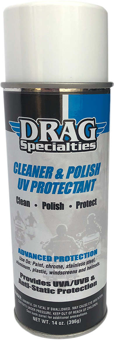 Drag Specialties Universal Motorcycle 14oz Spray Cleaner & Polish UV Protectant