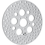 POLISHED STAINLESS STEEL DRILLED BRAKE ROTORS