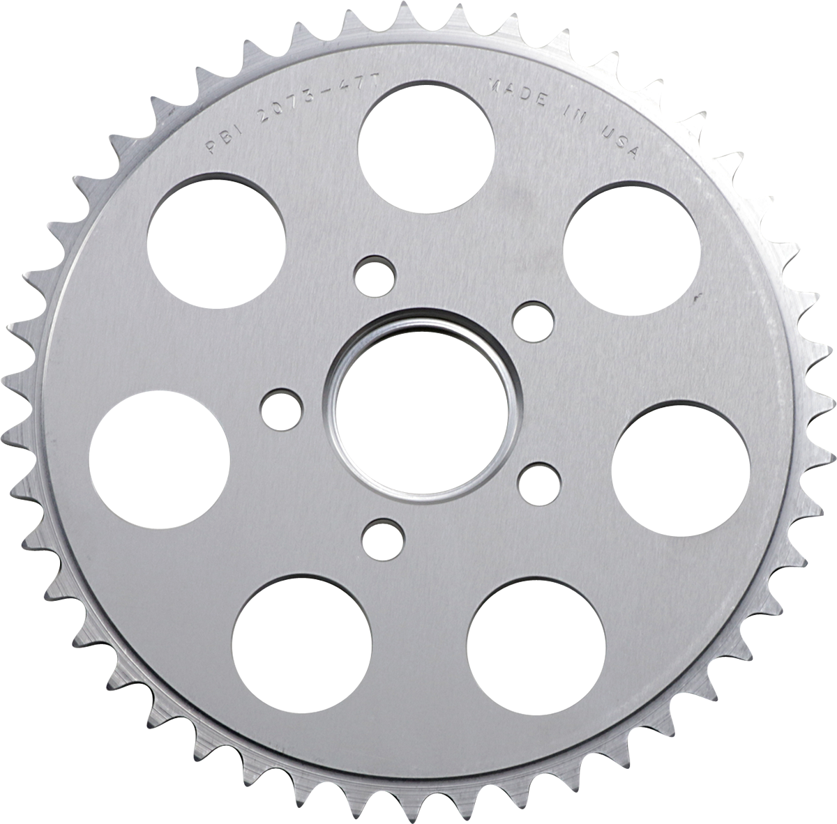 PBI Chrome Rear 47 Tooth Sprocket 86-13 Harley Dyna Touring Softail Sportster