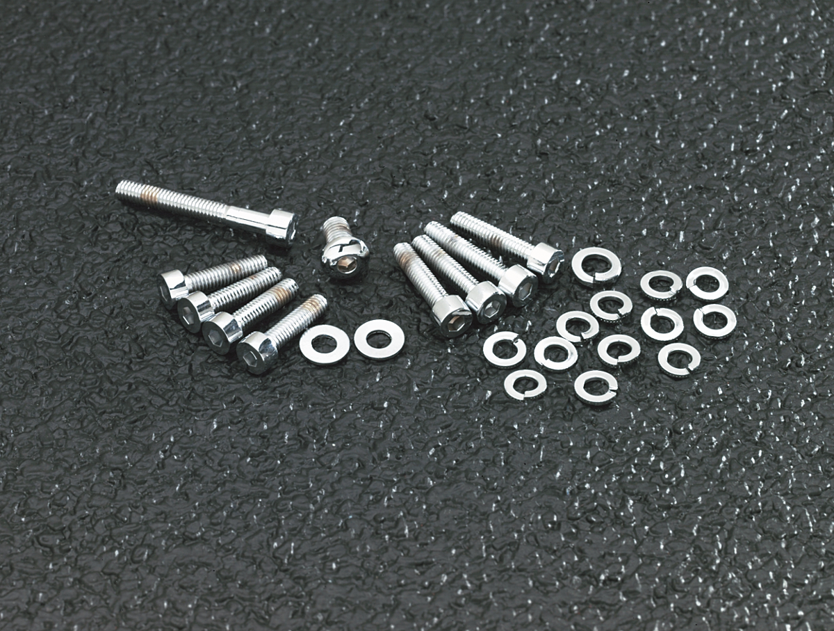 Gardner Wescott Chrome S&S E,G Carburetor Bolt Kit for 86-06 Harley Dyna Softail