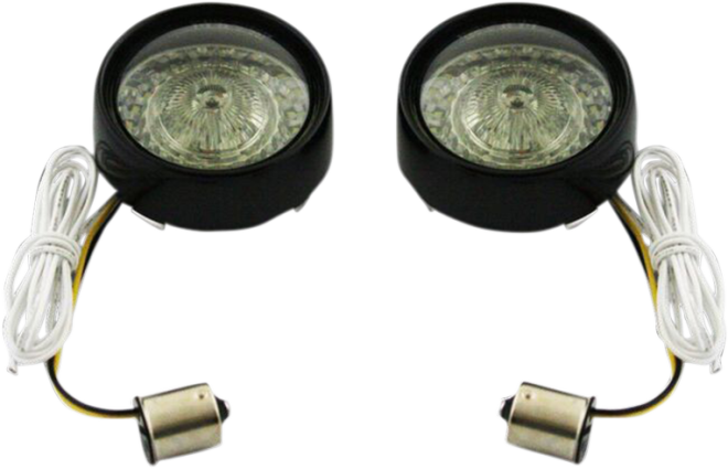 Custom Dynamics 1156 European Black Bullet Smoked Lens LED Turn Signal Inserts