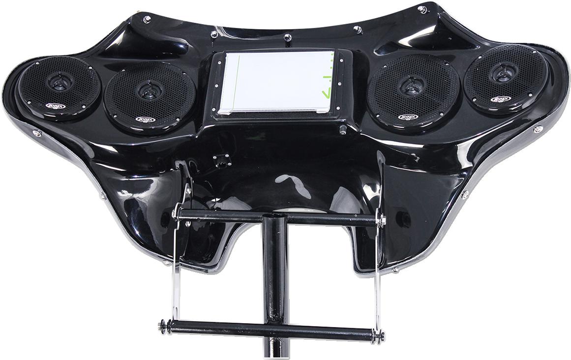 Hoppe Black Fiberglass 5566 Touch Front Fairing Kit for 18-19 Softail FXLR