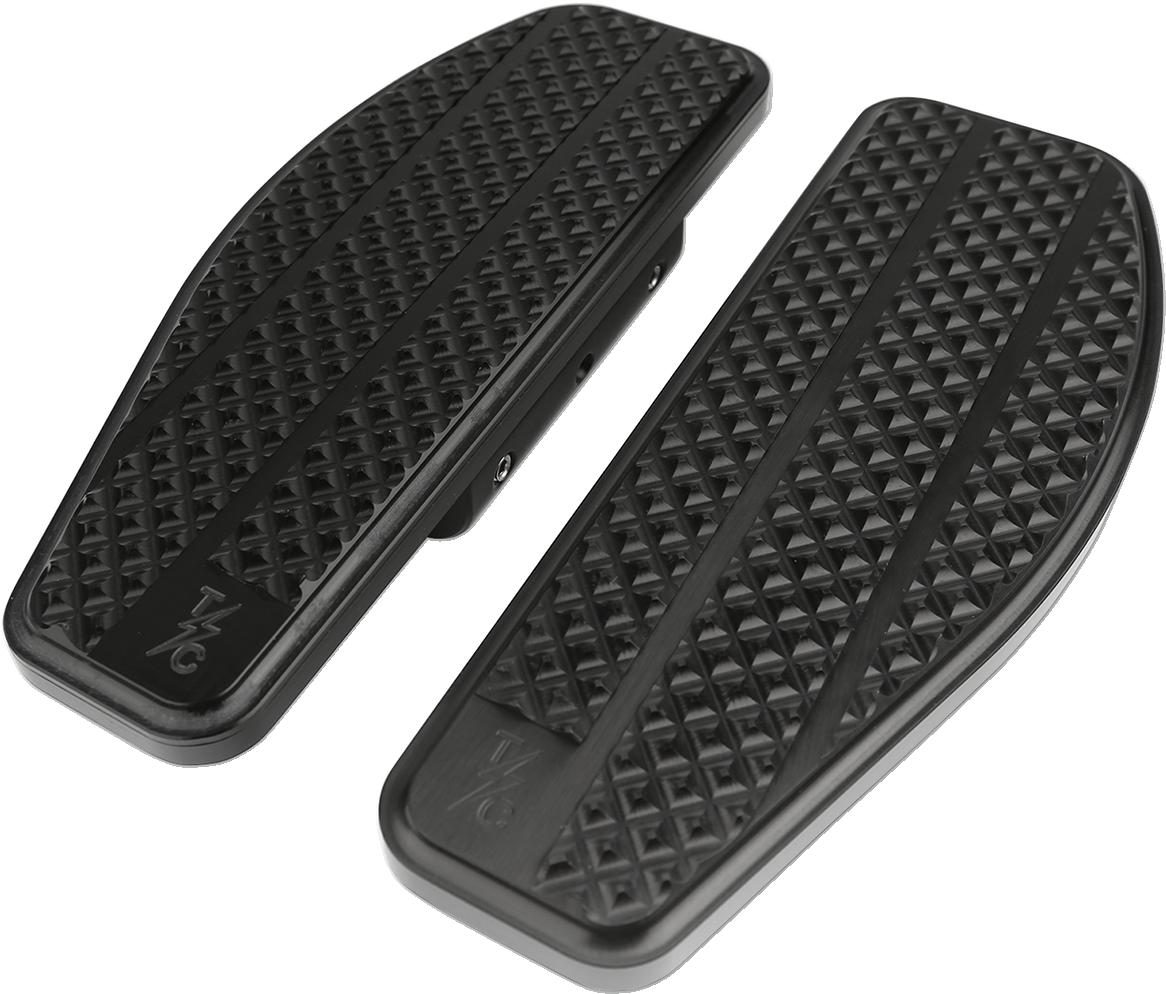 Thrashin Black Aluminum Passenger Floorboards for 80-20 Harley Softail Touring