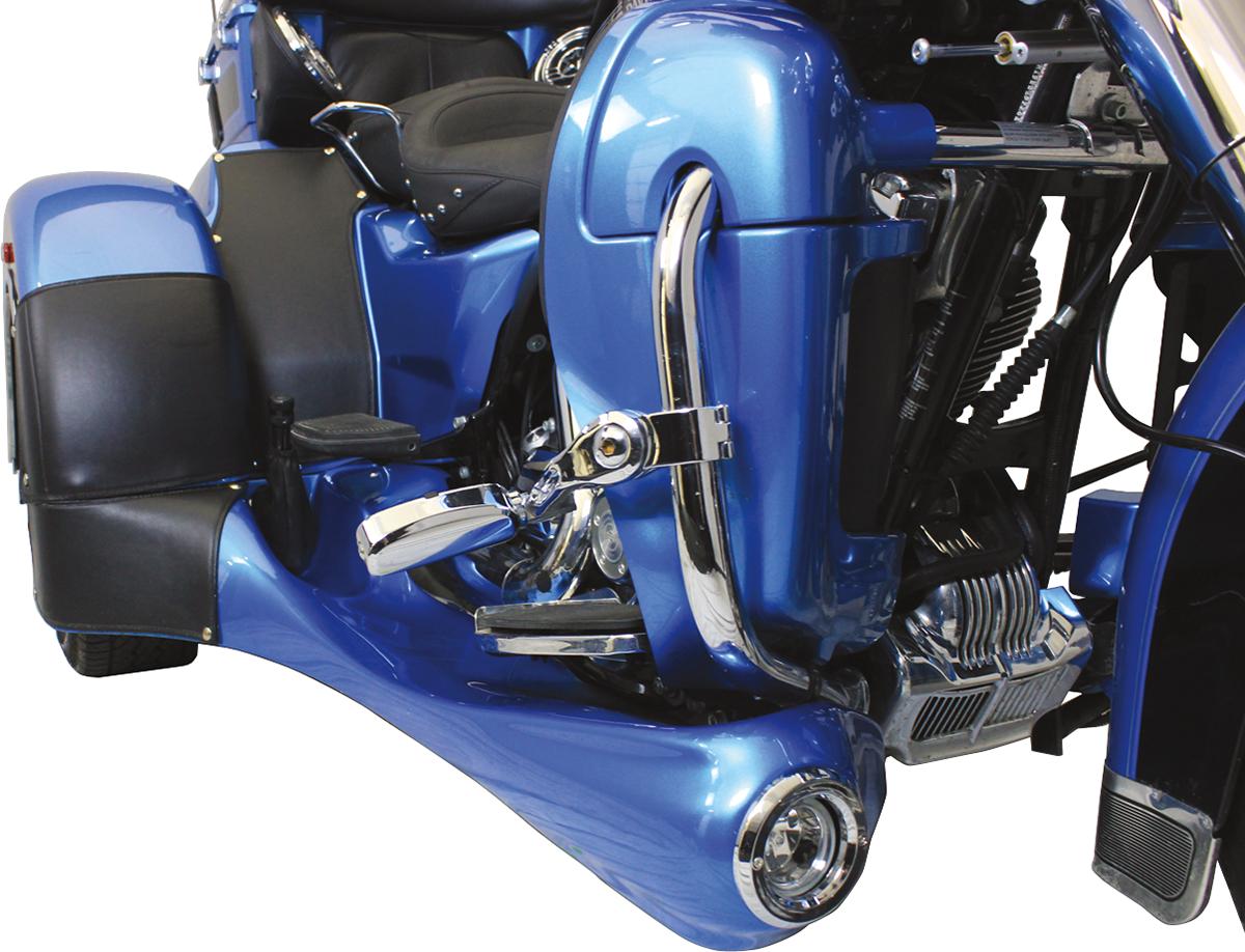 Motor Trike Black Vinyl Inner Fender Bras for 09-17 Harley Tri Glide FLHTCUTG
