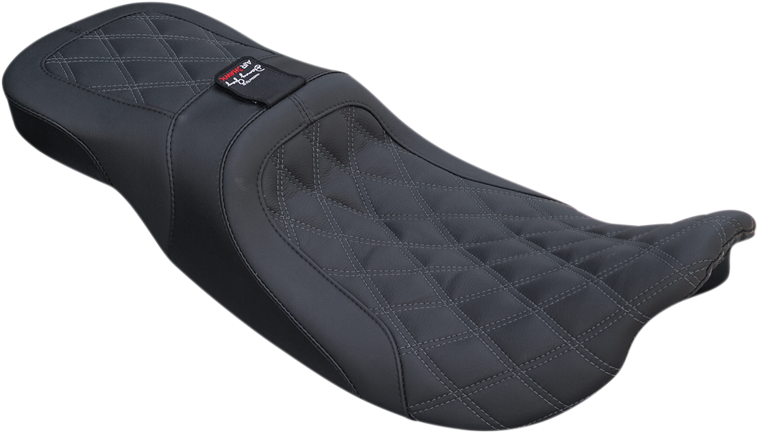 Danny Gary Airhawk Weekday Double Diamond Stitched Seat for 08-19 Harley Touring