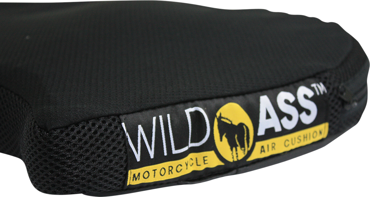 Wild Ass Black Yellow Classic Smart Air Motorcycle Seat Cushion for Harley