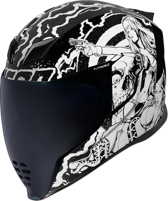 Icon Airflite Pleasuredome Redux Fullface Motorcycle Riding Street Racing Helmet