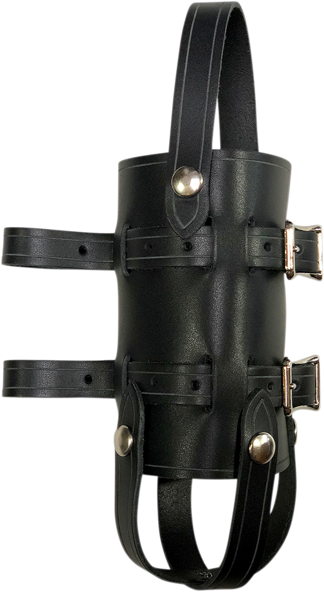 Nash Black Leather Brass Sling Quick Snap Universal 33oz Water Bottle Holder