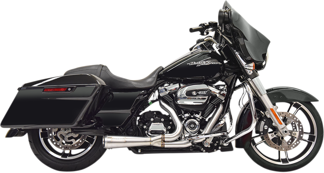 Bassani Road Rage 2-1 Short Stainless Steel Exhaust System 17-20 Harley Touring