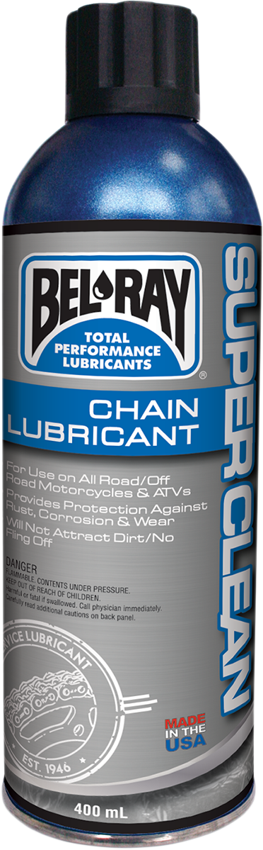 Bel Ray Super Clean 13.5 oz Conventional Aerosol Spray Can Chain Lubricant