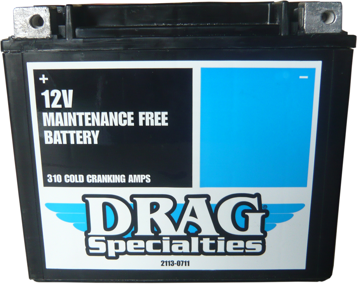 Drag Specialties AGM Maintenance Free Battery for 86-96 Harley Sportster XL