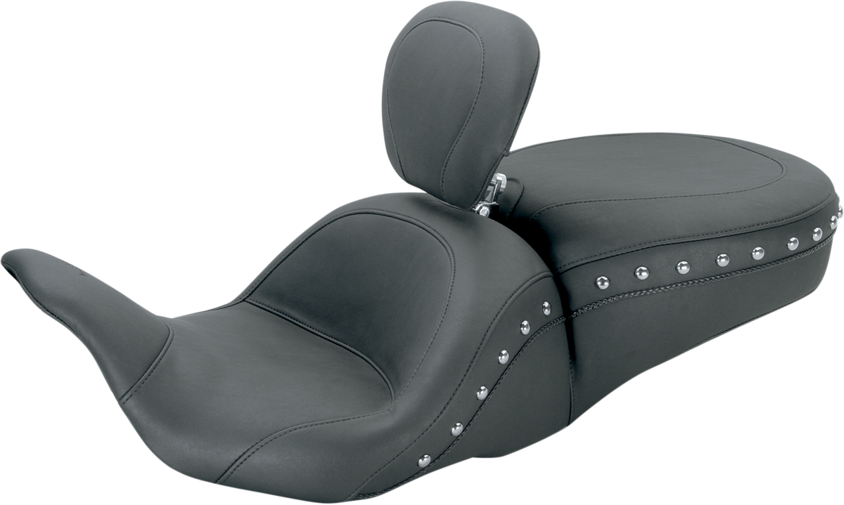Mustang Lowdown Studded Seat & Backrest for 08-19 Harley Touring FLHR FLHX FLHTK