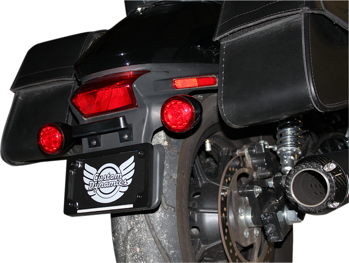 Custom Dynamic Black Probeam Red LED Universal Turn Signal Kit for Harley