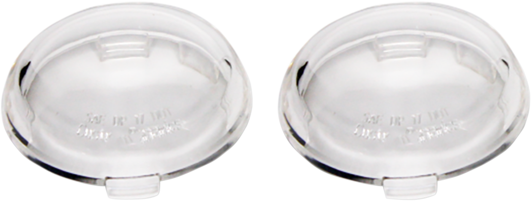 Custom Dynamics Probeam Clear Pair Turn Signal Lens for 00-19 Harley Davidson