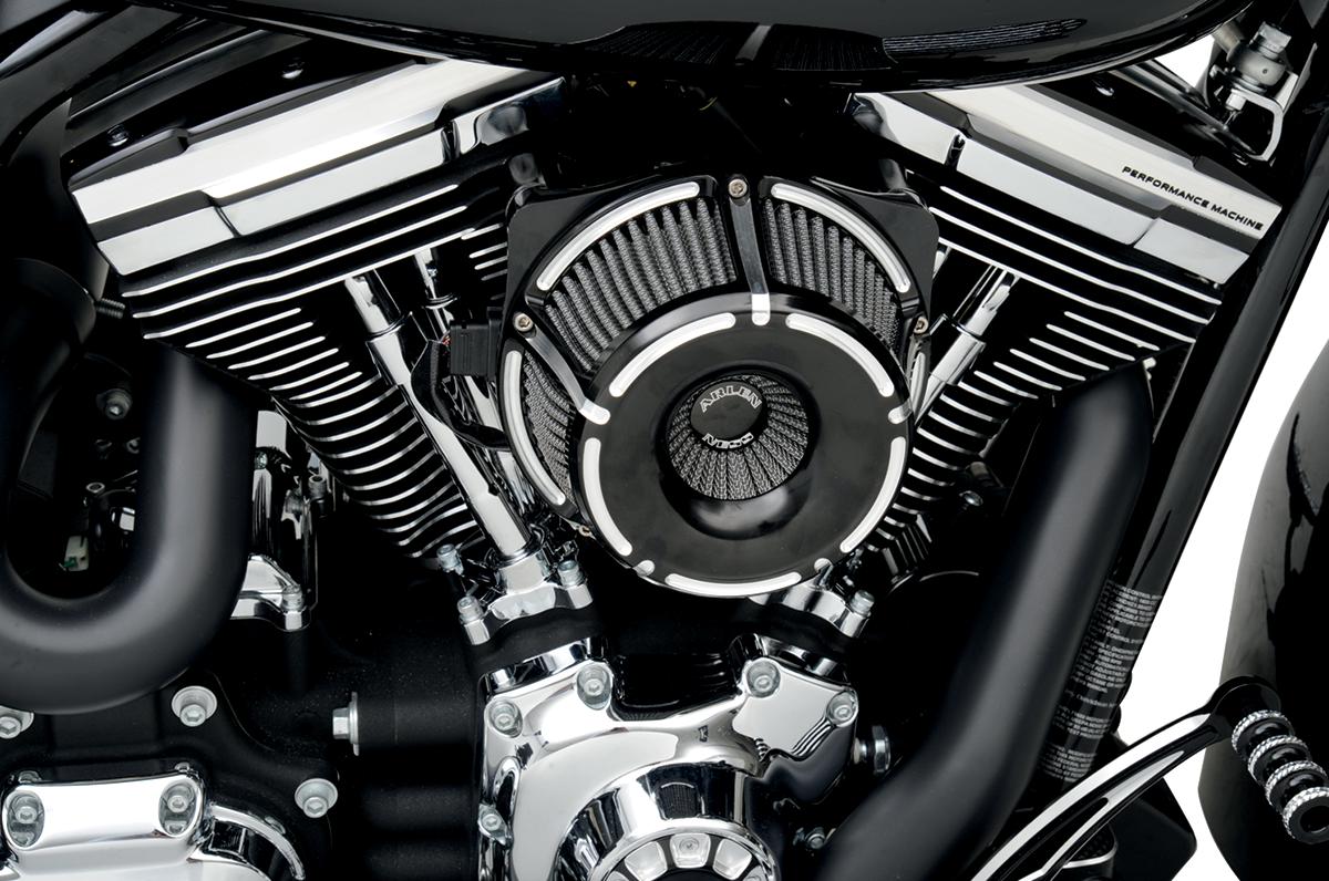 Arlen Ness Black Slot Track Air Cleaner Kit 08 17 Harley