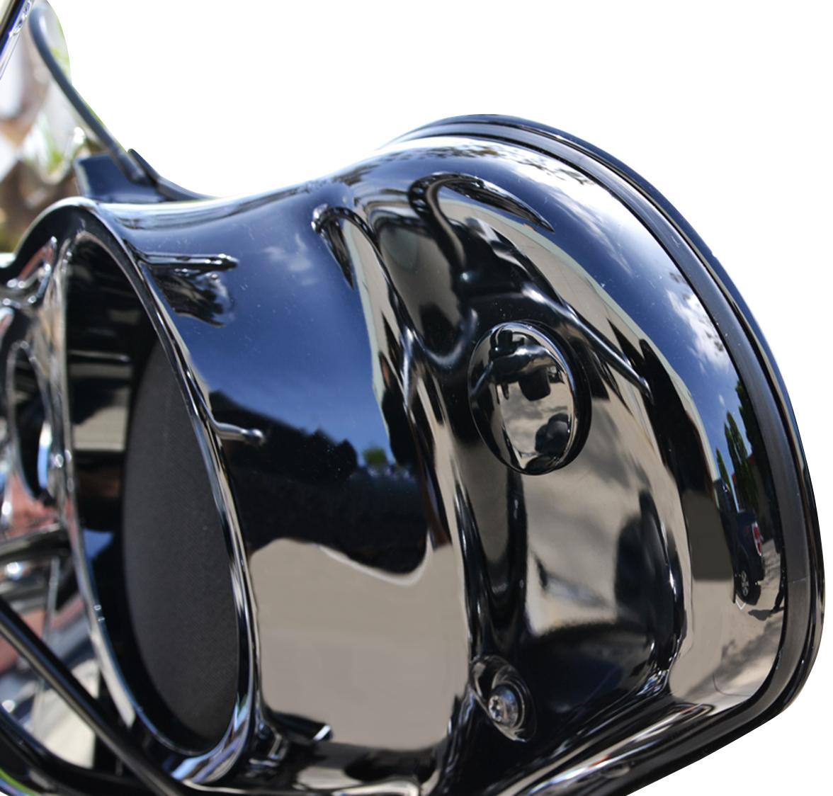 La Choppers Black Fairing Mirror Hole Plugs For 96 19