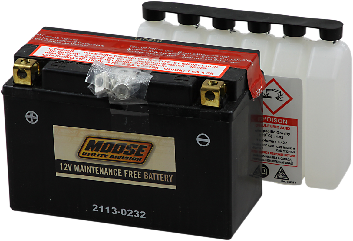 Moose YT9B-BS Maintenance Free Battery for 06-17 Yamaha Raptor 700 SE 4x2
