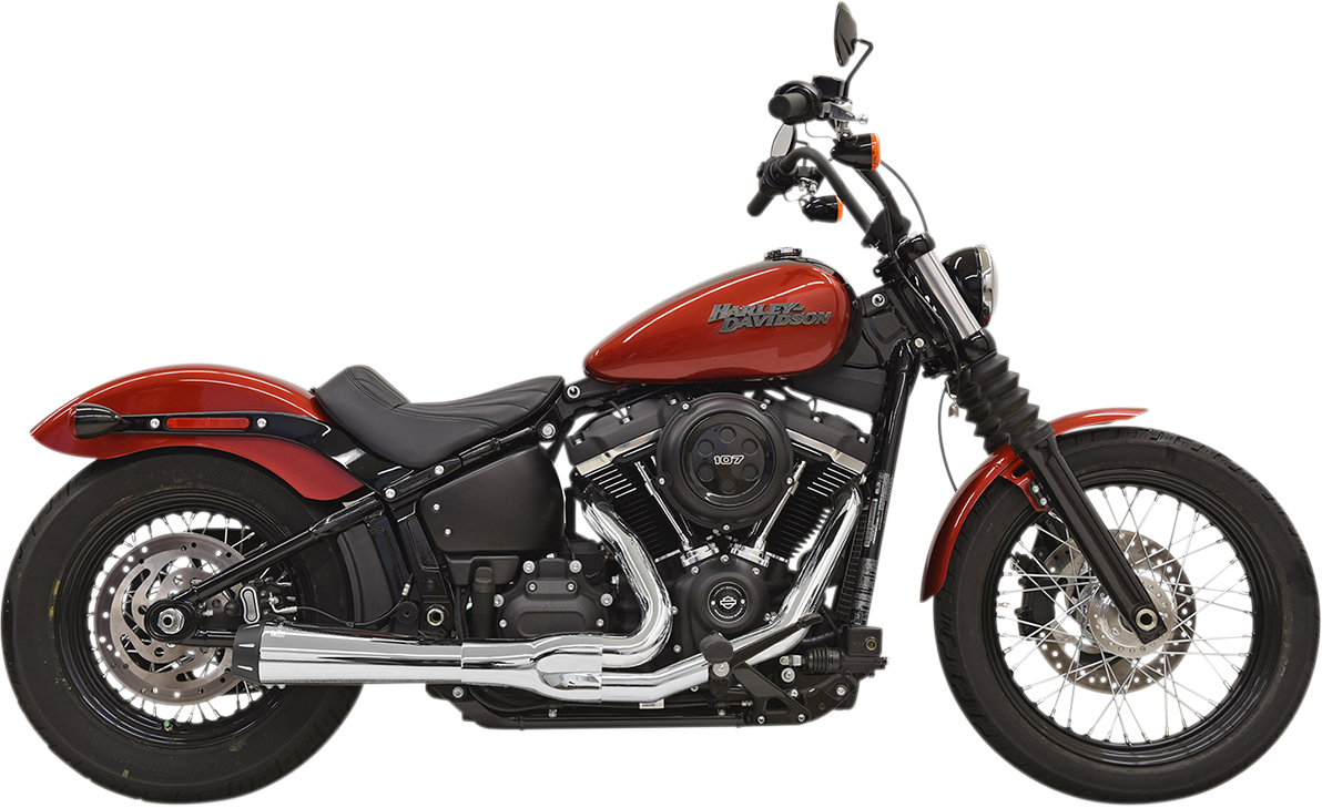 """Bassani Xhaust Chrome Road Rage 4"""" Exhaust System for 2018 Harley Softail FXFB"""