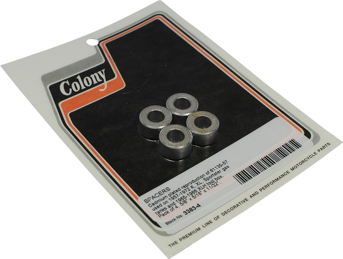 Colony Gas Tank Tool Box 4 Pack Spacer Kit 57-72 Harley Davidson Sportster XLCH