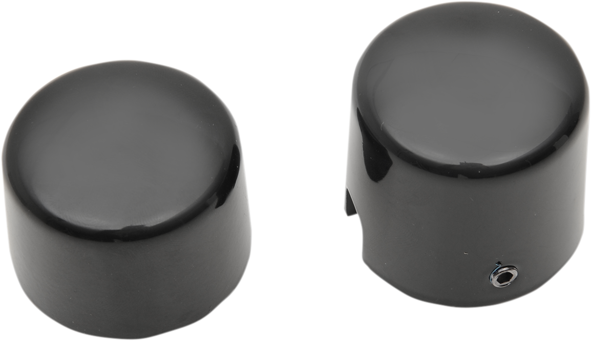 Drag Specialties Black Rear Axle Caps for 08-18 Harley Touring FLHR FLHX FLTR