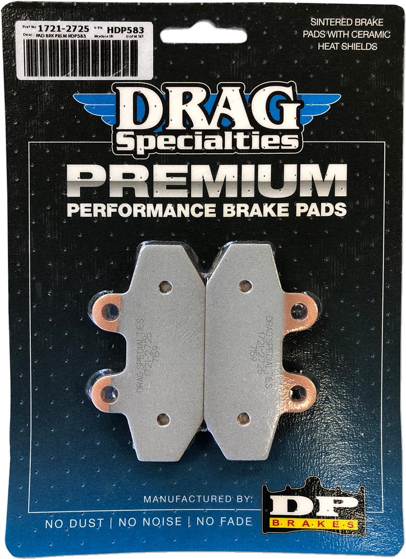 Premium Sintered Metal Rear Brake Pads for Harley Davidson Softail 2018-2019