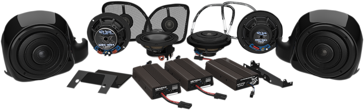 Wild Boar Whole Hog 900 watt 6 Speaker Kit for 16-19 Harley Road Glide FLTRU