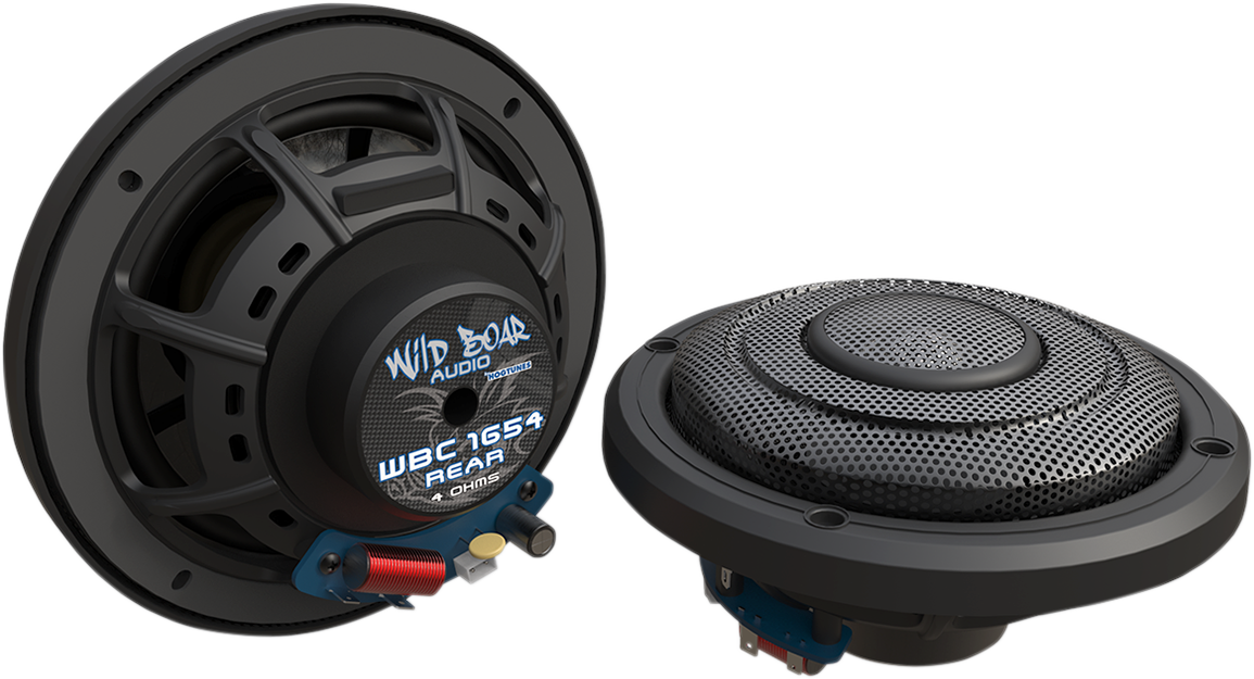 "Wild Boar Audio Black 6.5"" Rear Speakers for 14-18 Harley Road Glide FLTRU"