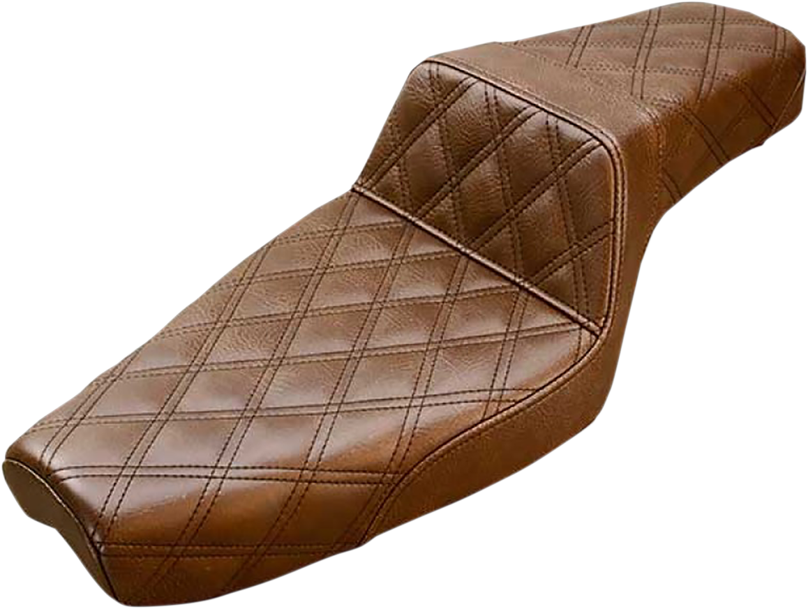 Saddlemen Brown Step Up Lattice Stitched Seat for 18-19 Indian Scout Bobber