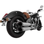 "TWIN SLASH 4"" ROUND SLIP-ON MUFFLERS"