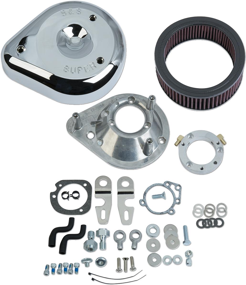 S&S Chrome Teardrop Air Cleaner Kit for Stock EFI 07-19 Harley Sportster XL