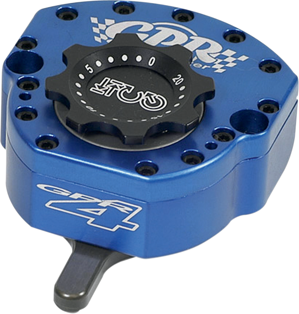 Black KYN Steering Damper Universal Adjustable Motorcycle Steering Damper Ohlin Logo Stabilizer for R6 FZ1 Z750 Z900 Z1000 ZX6R FZ1 SV650