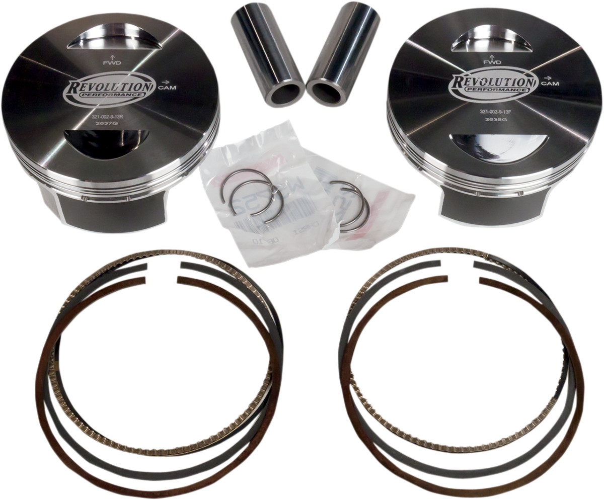 "Revolution 131"" Monster Bore Piston Kit for 99-17 Harley Dyna Touring Softail"