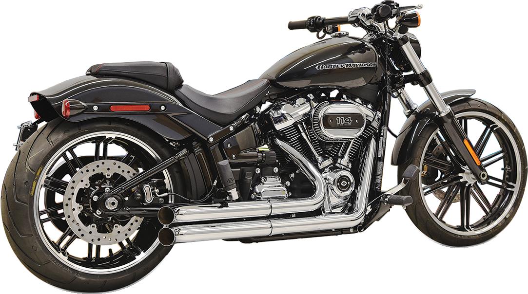 Bassani Xhaust Chrome Pro Street Exhaust System for 2018 Harley Fat Boy FXBR