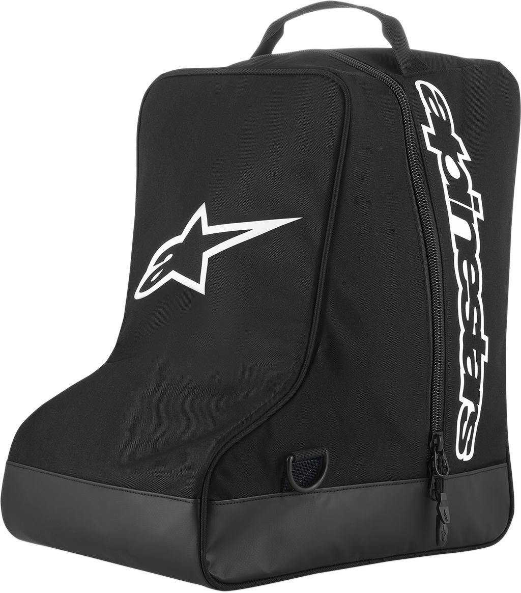 Alpinestars Black White Textile Universal Motorcycle Off Road Gear Boot Bag