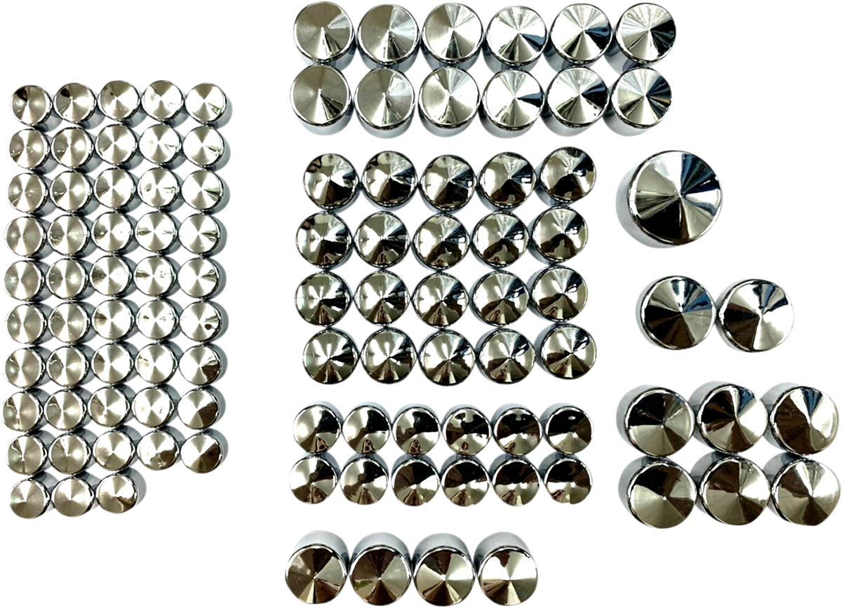 Drag Specialties Chrome Deluxe Motorcycle Bolt Cover Kit 17-20 Harley Touring
