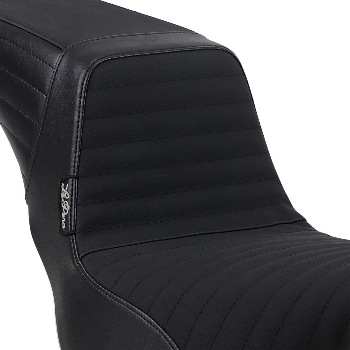 Le Pera Vinyl Black Pleated Grip Tape Kickflip Seat 18-19 Harley Softail FXBB