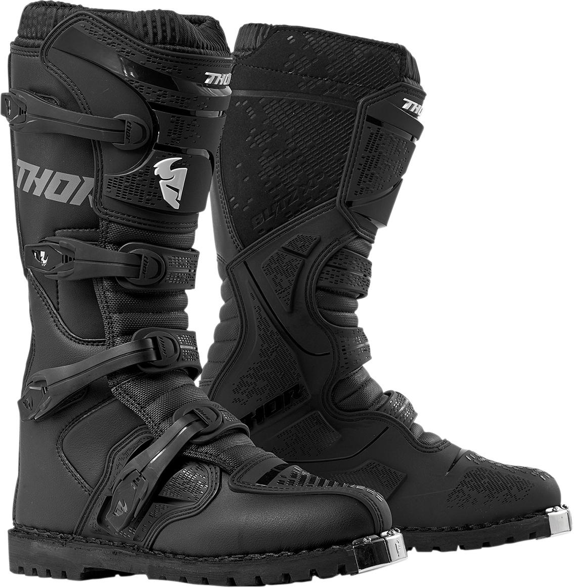 Thor Mens Pair Black Textile Blitz XP Atv Riding Offroad Racing Boots