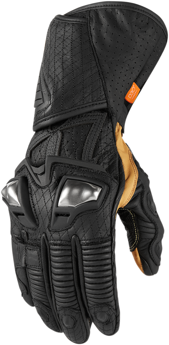 Icon Mens Hypersport GP Long Motorcycle Riding Street Racing Riding Gloves
