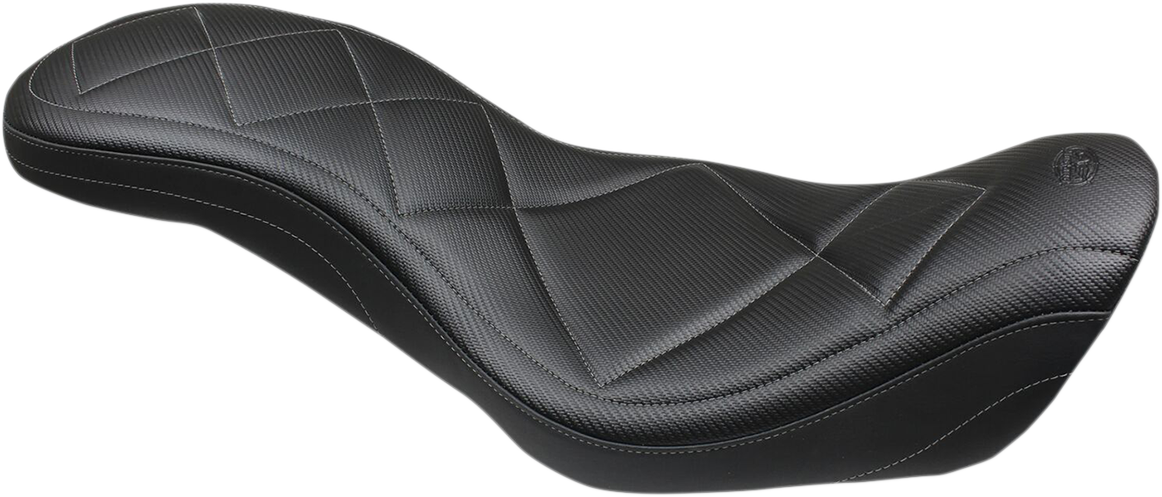 Mustang Tripper Carbon Fiber 2-Up Motorcycle Seat 06-17 Harley Dyna FXDB FXDL
